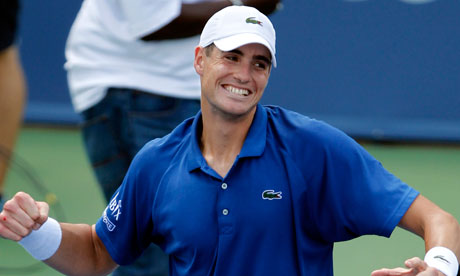 John Isner after defeating Juan Martín del Potro in the semi-finals of Western and Southern Open.